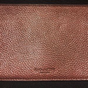 Coach leather wallet insert